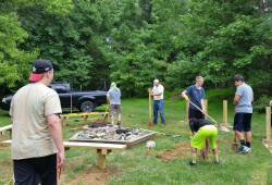 building fire pit and ring 2016 - 05