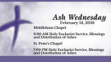 Ash Wednesday Schedule - St. Peter