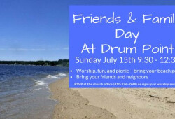 Friends and Family Day 2018 drum point banner