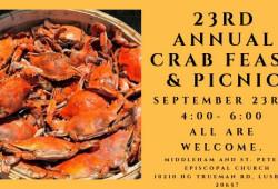 23rd annual crab feast banner 23rd