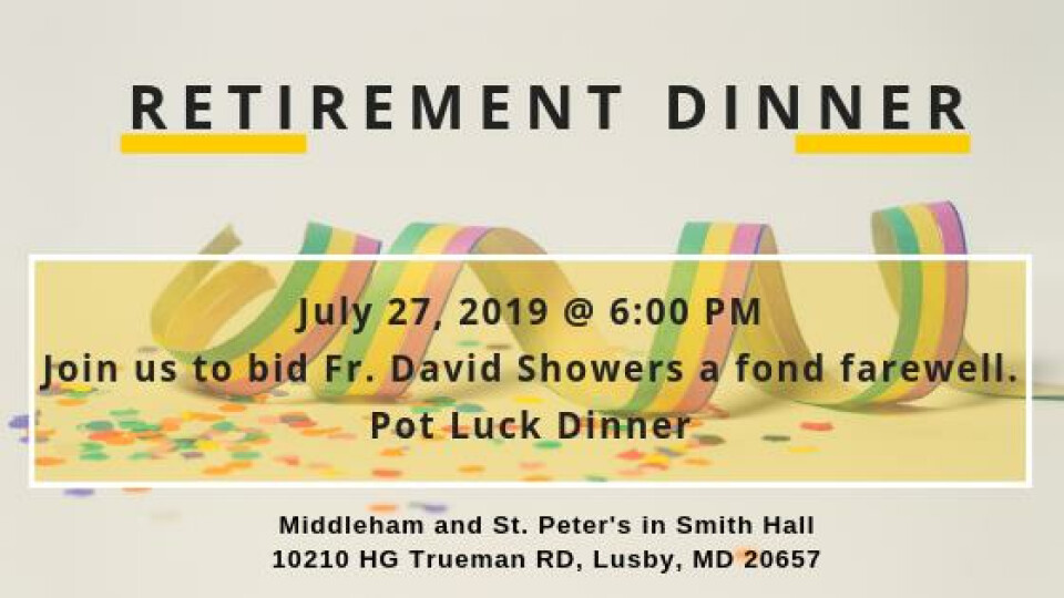 Retirement Dinner Fr. David Showers