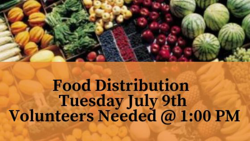 FOOD DROP  Volunteers Needed