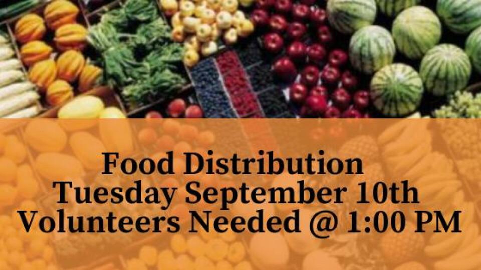 FOOD DROP  Volunteers Needed