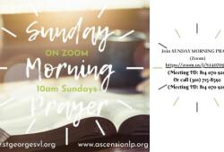 sunday morning prayer zoom syler banner