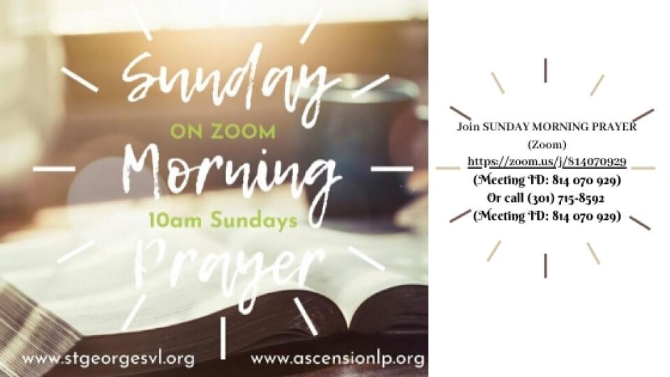 Online Worship Sunday Morning Prayer @ 10 AM